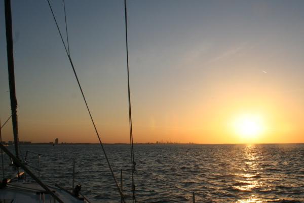 Sonnenuntergang über der Westerschelde