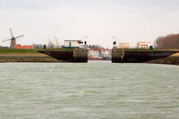 Keersluis Zierikzee - wird zum Schutz vor Hochwasser geschlossen