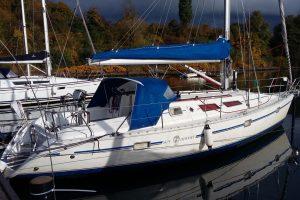 Yachtcharter Dänemark Larsen Yachtcharter - Sun Odyssey 36, Bj. 1991, für das Alter Top gepflegtes Gelcoat