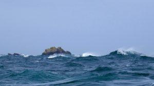 The Swinge - chaotische Seegangsverhältnisse